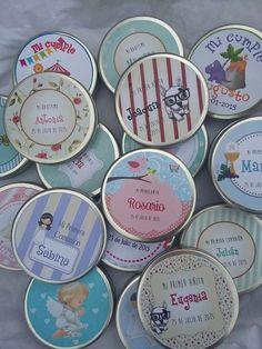 Jabón Con Lata X40 Con Caja Contenedora Bautismo Nacimiento - $ 1.120,00
