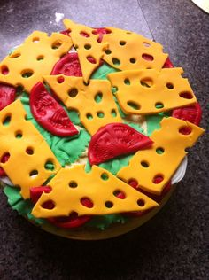 Hamburger cake - the middle layer