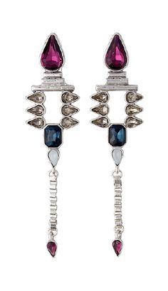 Earrings, silver plated, blue www.pilgrim.dk