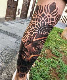 Womens Leg Tattoos Design Ideas , Informations About Womens Leg Tattoos Design Ideas Pin You - Tattoo MAG Black Ink Tattoos, Leg Tattoos, Black And Grey Tattoos, Cool Tattoos, Leg Sleeve Tattoo, Calf Tattoo, Arm Band Tattoo, Tattoo Signs, Muster Tattoos