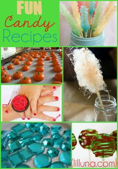 Fun Candy Recipes!! A variety of fun recipes to make and try at home! { lilluna.com }