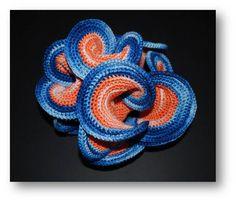 Hyperbolic plane crocheted