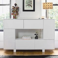 Argington Eiffel Bookcase White Argington answers the call of aesthetically sensitive households with a contemporary children's line built for longevity and sustainability. It looks like a clever cabinet, but the storage capacity of this white Eiffel bookcase is deceptively large. #LGRoselynNursery