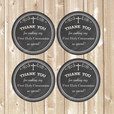 Thank You Favor Tags .First Communion tags. Chalkboard tags. Printable diy Thank You Tags. First Holy Communion tags. INSTANT DOWNLOAD