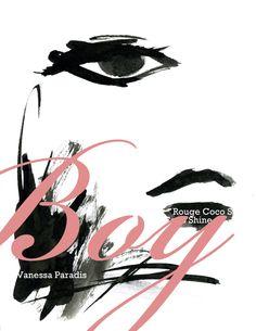 """Chanel Rouge Coco Shine """"Boy"""" with Vanessa Paradis シャネルの新作口紅『ルージュ ココ シャイン』 代表となるカラーは シャネルが最も愛したと言われている、アーサーエドワード"""" """"。イメージモデルはヴァネッサ・パラディ。 Chanel has released a new lipstick collection Rouge Coco Shine..."""