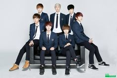 Everyone looks real chill and Jin looks like he's gotta be somewhere