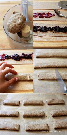 Yummy Mummy Kitchen: Homemade Cereal Bars Recipe - This is soooo perfect! The updated and improved version of homemade berry cereal bars. Yummy Mummy, Yummy Food, Baby Food Recipes, Snack Recipes, Fruit Cereal, Superfood, Healthy Snacks, Fruit Snacks, Fruit Bars