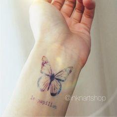 Colored Galaxy Butterfly tattoo InknArt Temporary by InknArt, $3.99