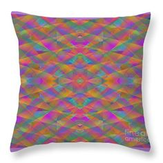 """Prism Throw Pillow by Expressionistart studio Priscilla Batzell.  Our throw pillows are made from 100% spun polyester poplin fabric and add a stylish statement to any room.  Pillows are available in sizes from 14"""" x 14"""" up to 26"""" x 26"""".  Each pillow is printed on both sides (same image) and includes a concealed zipper and removable insert (if selected) for easy cleaning."""