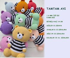 Cute Gifts For Dad Christmas Crochet Parrot, Crochet Bear, Crochet Toys, Amigurumi Toys, Amigurumi Patterns, Crochet Patterns, Amigurumi For Beginners, Happy Animals, Anime Art Girl