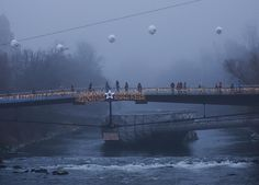 photo by @chien_chi_chang /@magnumphotos View of the misty Mur River in the old town of Graz Austria as the holiday season celebration continues. All the best and happy holidays! #Graz #islandontheMur #cccathome by natgeo