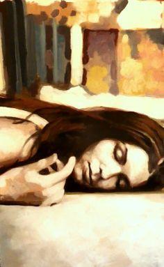 "Saatchi Online Artist: thomas saliot; Oil 2013 Painting ""on the floor"""