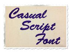 $2.95Casual Script Machine Embroidery Font Alphabet