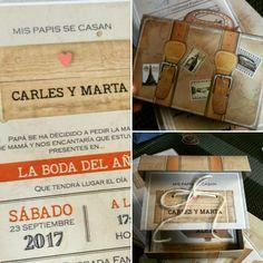 Invitaciones de boda maleta de viaje #invitacionesdeboda #bodad2018 #casament #noscasamos #invitacionesdiferentes #invitacionesdivertidas #papelypapel #invitacionesonline