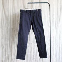 Chino Cloth Pants - narrow #navy