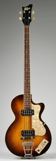 Hofner Model Club Bass 1965 => German Electric Bass Guitar, Karl Hofner Company, Schonbach