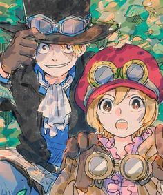 Sabo One Piece, One Piece Crew, One Piece Ship, One Piece Luffy, Fanarts Anime, Manga Anime, Anime Art, One Piece Drawing, One Piece Manga