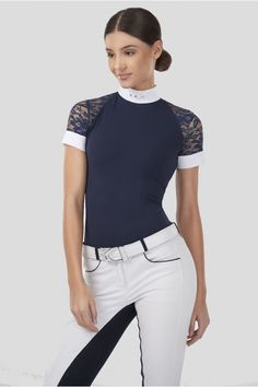 Caballo Emporium Lace Attraction Show Shirt (Long or Short Sleeved)