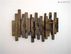 #countryliving #dreambedroom http://eosupply.blogspot.com/2011/02/design-reclaimed-love.html Reclaimed abstract wall art - love the old wood - would look great in the room!