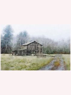 With an alluring rustic melancholy, theCountry Landscape III Canvas Giclee will put you in mind of a crisp early winter afternoon.