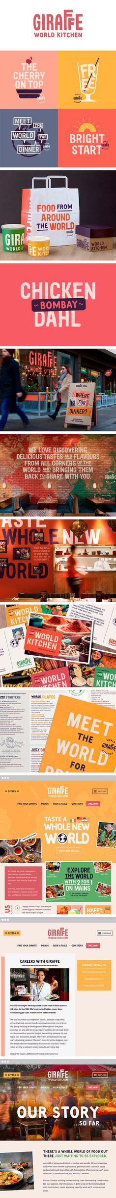 More corporate-designs are collected on: https://pinterest.com/rothenhaeusler/best-of-corporate-design/ · Agency: Ragged Edge · Client: Giraffe | World Kitchen #branding #identity #corporatedesign