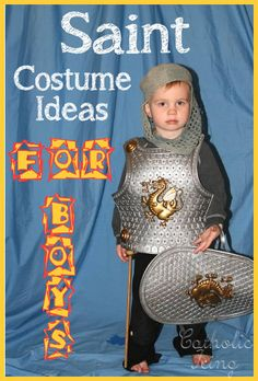 All Saints' day costume ideas for boys. A list with more than 60 easy-to-make-yourself costumes for boys! :-)