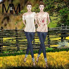 Diosaharu Adamski: M&M   Outfit: GISELEBLOUSE AND JEANS MESHModel &Ph...