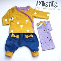 Lybstes Sewing instructions: Baby wrap jacket sew, cut patterns