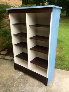 Pie safe turned bookcase painted by Karla of Hart & Soul Designs...