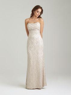 Allure 1457 Sequin Lace Bridesmaid Gown