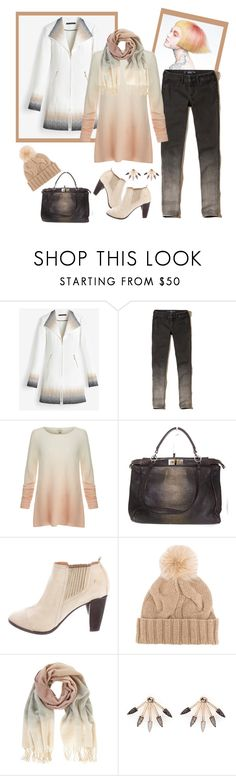 """""""60 Second Style: Ombre Effect"""" by ragnh-mjos ❤ liked on Polyvore featuring White House Black Market, Hollister Co., Joie, Fendi, COSTUME NATIONAL, Loro Piana, Mint Velvet and Pamela Love"""