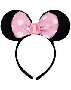 Minnie Mouse 1st Birthday Headband - Party City