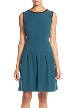Marc New York Stretch Crepe Fit & Flare Dress