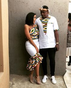Bonded beautifully by diyanu fashion magazine Couples African Outfits, Latest African Fashion Dresses, African Dresses For Women, African Print Dresses, African Print Fashion, African Attire, South African Traditional Dresses, Traditional Outfits, Matching Couple Outfits