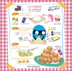 Pour plus clique ci-dessous Illustration Book, Food Illustrations, Cooking Classes For Kids, Cooking With Kids, Tupperware, Healthy Toddler Breakfast, Drink Recipe Book, Little Chef, Mardi Gras