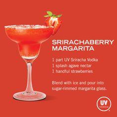 UV Vodka Recipe: Srirachaberry Margarita