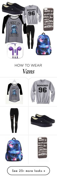 """School"" by unicornspizza on Polyvore featuring JFR, dELiA*s and Vans"