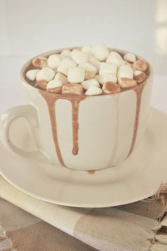 Hot chocolate and marshmallows :)