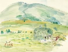 View LA FENAISON by Raoul Dufy on artnet. Browse upcoming and past auction lots by Raoul Dufy. Raoul Dufy, Duffy, Pretty Art, Famous Artists, Painters, Rainbow Colors, Fresh Water, Sea Shells, Watercolor Paintings