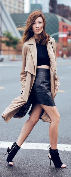 Leather Skirt Streetstyle by Tsangtastic