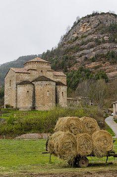 Iglesia en románico pagès / en el campo | St. Jaume de Frontanyà, España