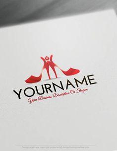 Free Logo Maker Shoes Logo Templates Source by freelogomaker logo Logo Maker, Shoes Logo, Free Logo Templates, Fashion Logo Design, Fashion Logos, Makeup Artist Logo, Online Logo, Beauty Logo, Create A Logo
