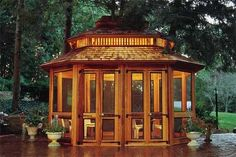 Gazebos offer shade, shelter from passing showers and a great place to build summer memories.