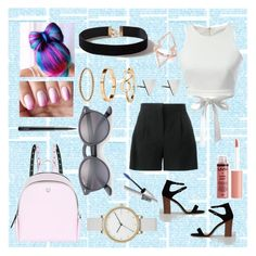 """""""Cool and Sweet 👑"""" by senatezgi ❤ liked on Polyvore featuring New Look, Alberta Ferretti, WithChic, Charlotte Russe, MAC Cosmetics, Dorothy Perkins, Skagen, H&M, Rachel Jackson and Ray-Ban"""