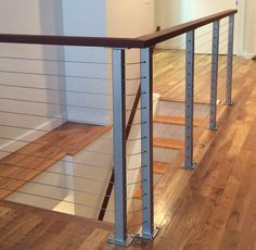 Charmant Interior Cable Railing With Hardwood By SDCR Cable Railing Systems, Cable  Fencing, Hardwood,