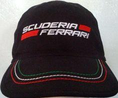 27f803e8351 Scuderia Ferrari Hat Cap Black Formula 1 Racing Team Sports Car Italy  Authentic  Ferrari  BaseballCap