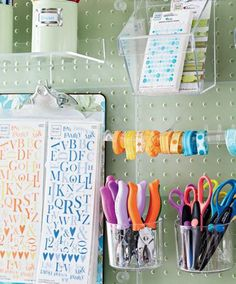 organizing supplies