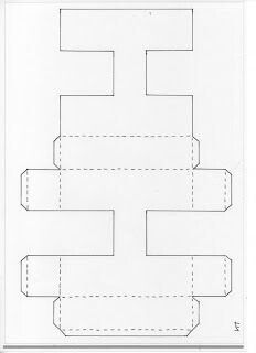 H molde para caja