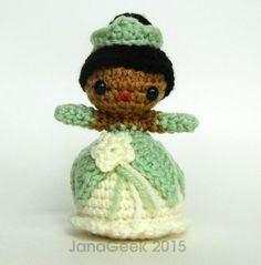 The Frog Princess (Tiana) Amigurumi Crochet Doll by janageek