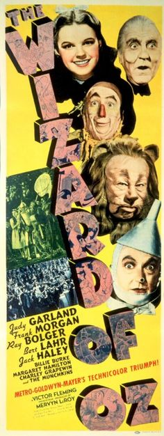 Metro-Goldwyn-Mayer.  1939.  Movie Poster.  From: The Wizard of Oz